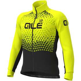 Alé Cycling Solid Summit DWR Chaqueta Hombre, black-fluo yellow